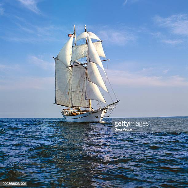 Clipper ship replica at sea (Digital Enhancement)