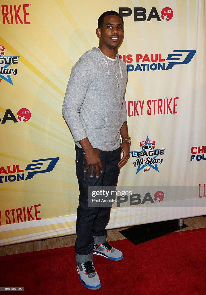 LA Clippers Chris Paul attends his 5th annual PBA All-Stars charity tournament at Lucky Strike Lanes at L.A. Live on January 7, 2013 in Los Angeles, California.