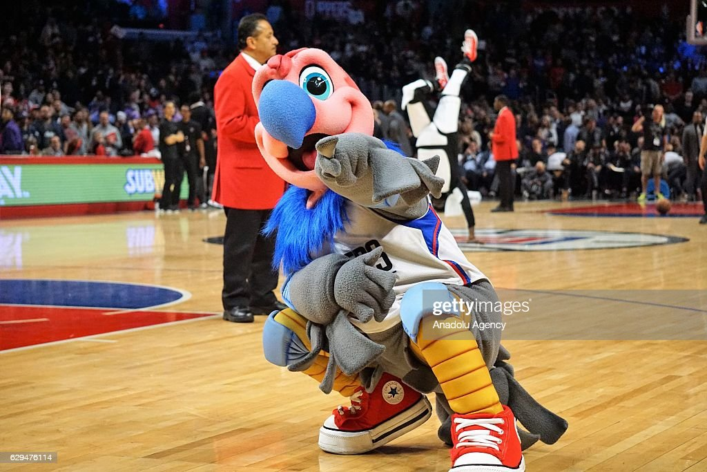 LA Clippers' mascot Chuck is seen during NBA between Los Angeles Clippers and Portland Trail Blazers at Staples Center in Los Angeles, USA on December 12, 2016.