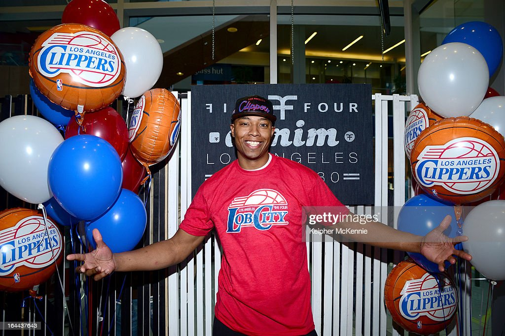 Clippers Small Forward Caron Butler makes appearance at Five Four at Westfield Mall in Culver City on March 23 2013 in Culver City California