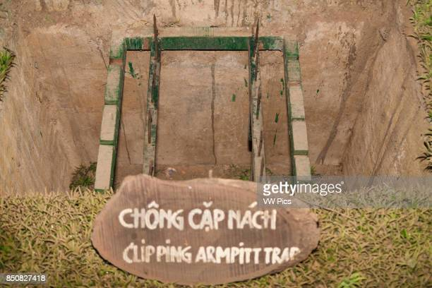 A clipping armpit booby trap at Ben Dinh Cu Chi near Ho Chi Minh City Vietnam