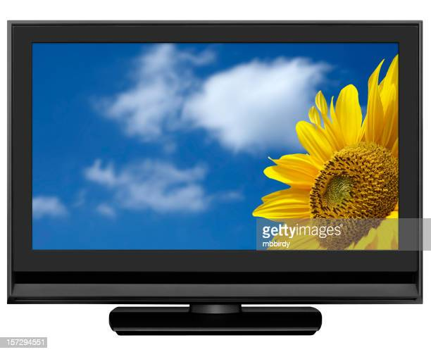 HD-LCD-Fernseher, clipping path, isoliert auf weiss
