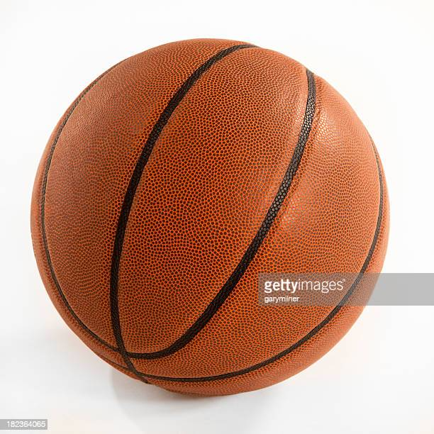 Clipping path of a basketball isolated on white background
