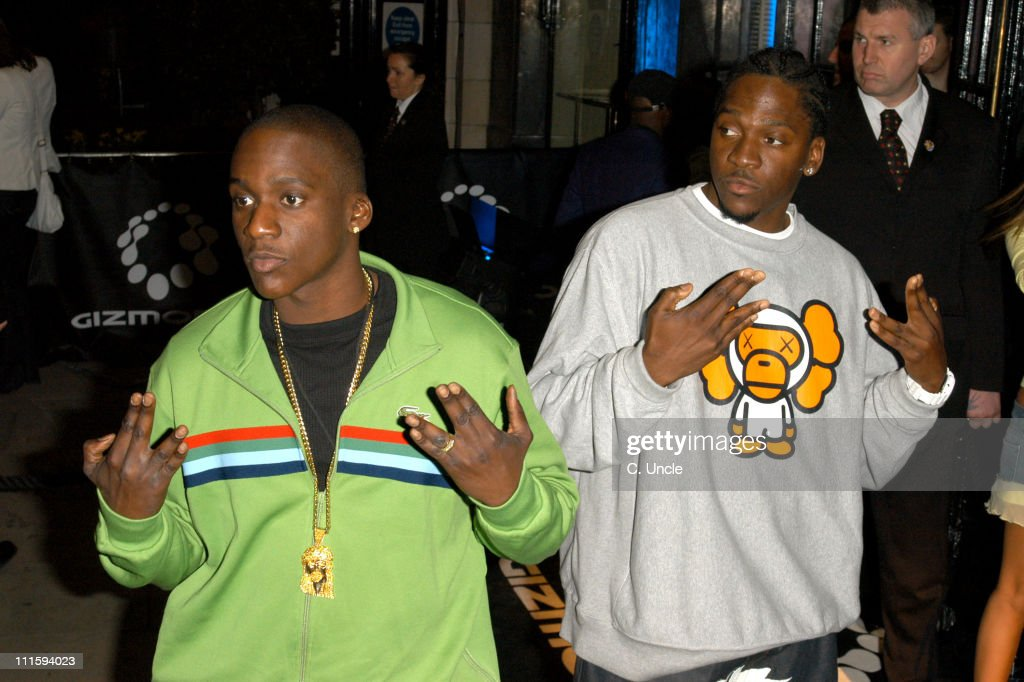 <a gi-track='captionPersonalityLinkClicked' href=/galleries/search?phrase=Clipse&family=editorial&specificpeople=2143146 ng-click='$event.stopPropagation()'>Clipse</a> during Gizmondo Launch Party - Arrivals at Sheraton Park Lane Hotel in London, Great Britain.