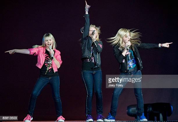 Clique Girlz perform as the opening act for The Cheetah Girls on The One World Tour at US Bank Arena on November 23 2008 in Cincinnati