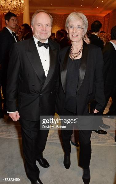 Clive Anderson and wife Jane attend The Prince's Trust Invest In Futures dinner at The Savoy Hotel on February 6 2014 in London England