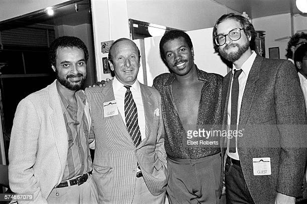 Clive Davis and Kashif backstage at a Kashif and Ashford Simpson show at Radio City Music Hall in New York City on September 10 1983