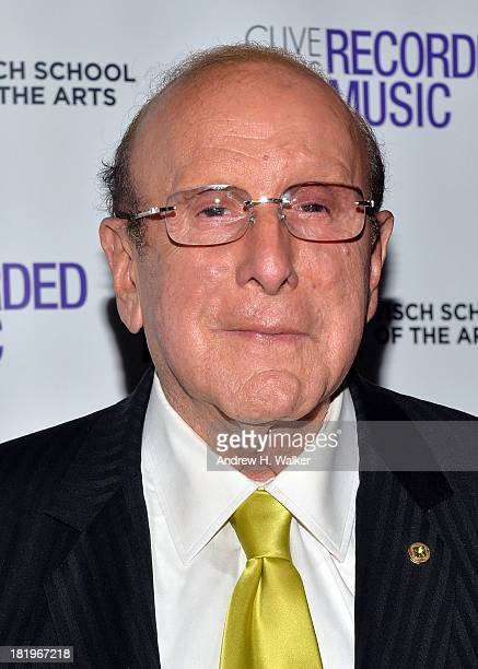 Clive Davis attends the Clive Davis Institute Of Recorded Music 10th Anniversary Party at Gallow Green at the McKittrick Hotel on September 26 2013...