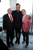 Clive Davis Avery Wilson and Elvis Duran attend Elvis Duran and Eric Trump Host Music Label Even at Trump SoHo on May 27 2015 in New York City