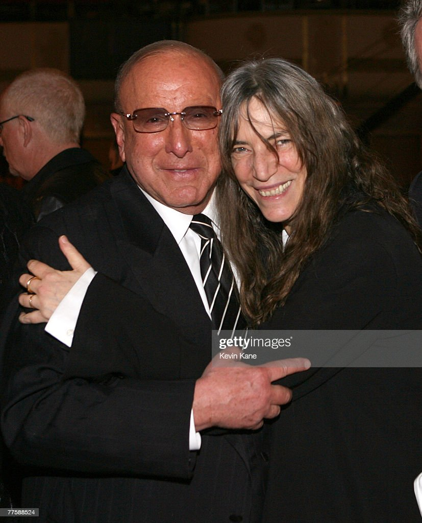 Clive Davis, Chairman and CEO BMG US, and Patti Smith, inductee *EXCLUSIVE*