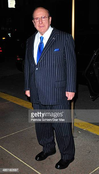 Clive Davis is seen on April 16 2014 in New York City