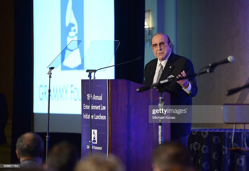 <a gi-track='captionPersonalityLinkClicked' href=/galleries/search?phrase=Clive+Davis&family=editorial&specificpeople=209314 ng-click='$event.stopPropagation()'>Clive Davis</a> speaks onstage at The 58th GRAMMY Awards Entertainment Law Initiative at Fairmont Miramar Hotel on February 12, 2016 in Santa Monica, California.
