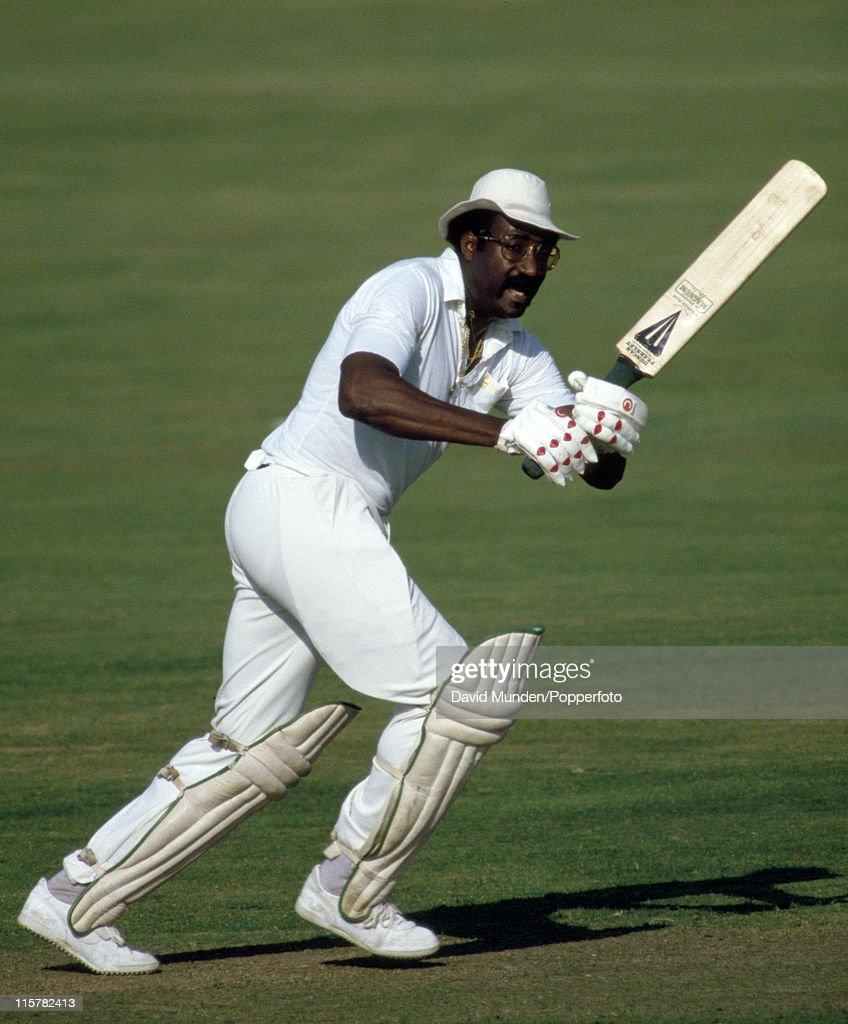 Clive Lloyd batting for Lancashire circa 1986