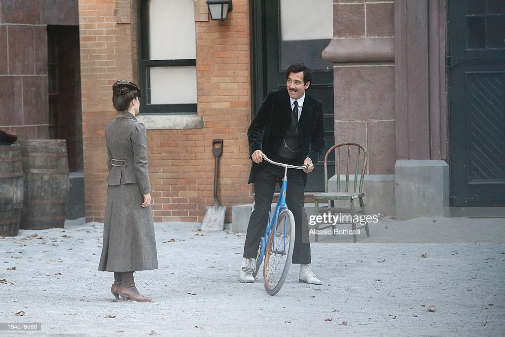 Clive Owen and Eve Hewson seen on location in Brooklyn for 'The Knick' on October 14, 2013 in New York City.