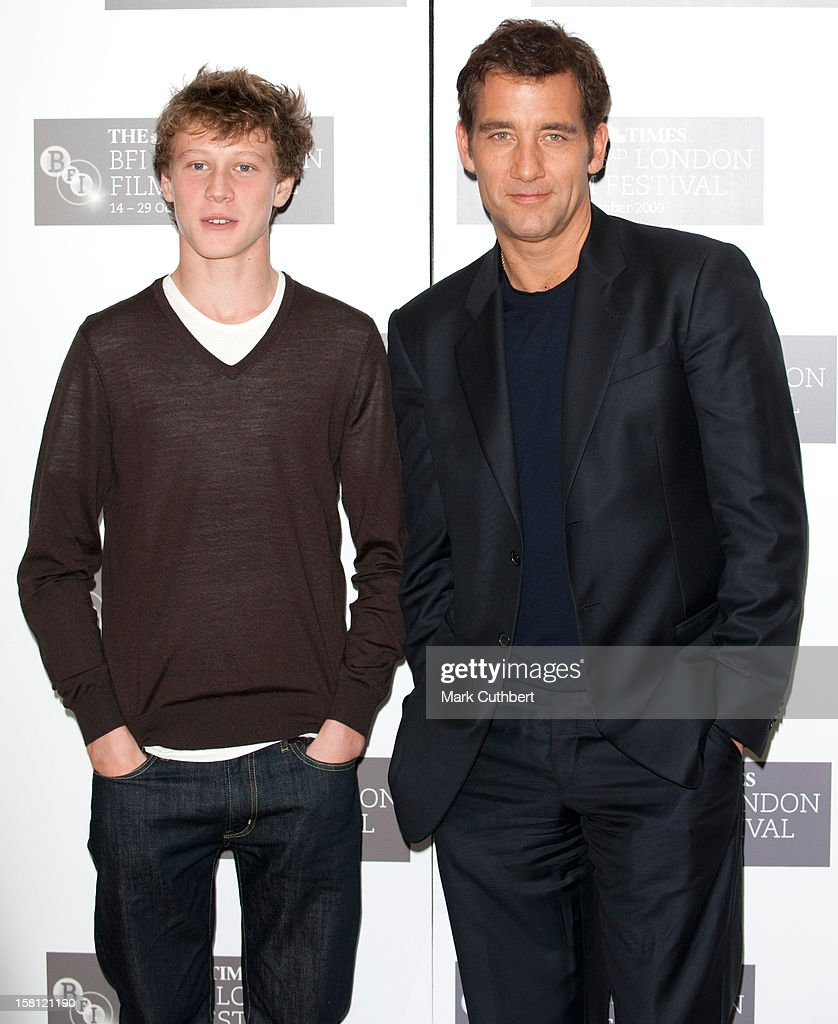 Clive Owen And George Mackay Attend A Photocall At The Mayfair Hotel To Promote 'The Boys Are Back' As Part Of The London Film Festival