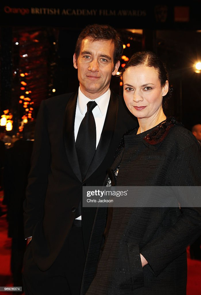 Clive Owen and SarahJane Fenton attend the Orange British Academy Film Awards 2010 at the Royal Opera House on February 21 2010 in London England