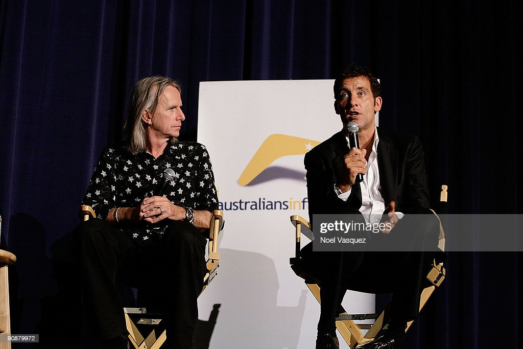 Clive Owen and Scott Hicks attend the Australians In Film screening of 'The Boys Are Back' at the Harmony Gold Theatre on September 16 2009 in Los...