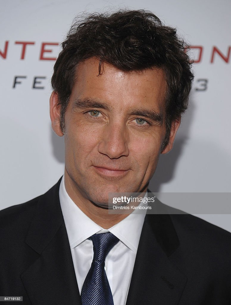 Clive Owen attends the Cinema Society and Angel by Thierry Mugler screening of 'The International' at AMC Lincoln Square on February 9 2009 in New...