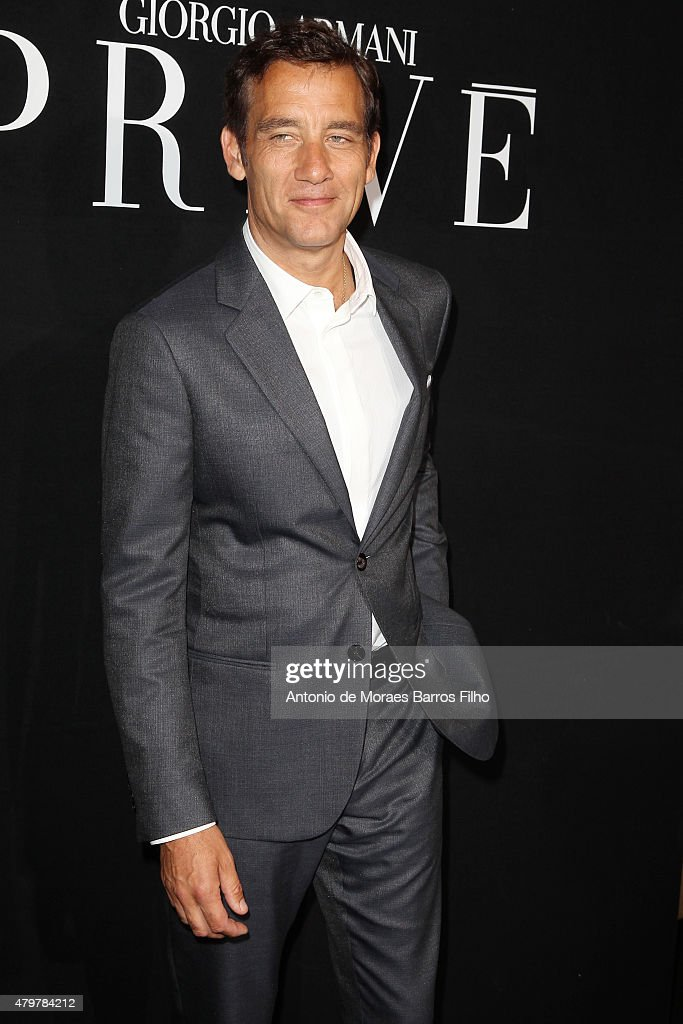 Clive Owen attends the Giorgio Armani Prive show as part of Paris Fashion Week Haute Couture Fall/Winter 2015/2016 on July 7, 2015 in Paris, France.