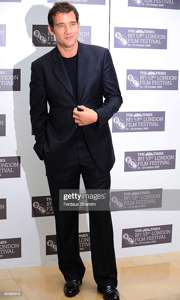 Clive Owen attends the photocall for 'The Boys Are Back' during The Times BFI London Film Festival at May Fair Hotel on October 21 2009 in London...