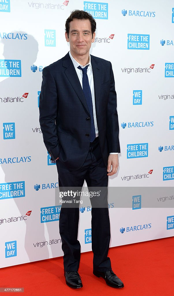 <a gi-track='captionPersonalityLinkClicked' href=/galleries/search?phrase=Clive+Owen&family=editorial&specificpeople=201515 ng-click='$event.stopPropagation()'>Clive Owen</a> attends We Day UK, a charity event to bring young people together at Wembley Arena on March 7, 2014 in London, England.