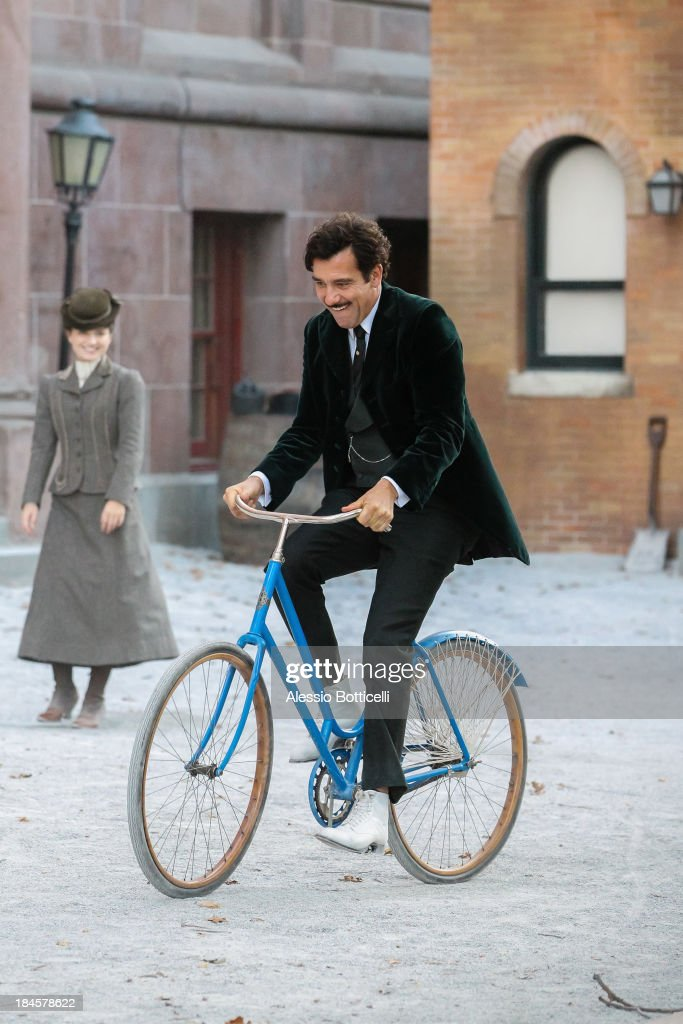 Clive Owen, Eve Hewson seen on location in Brooklyn for 'The Knick' on October 14, 2013 in New York City.