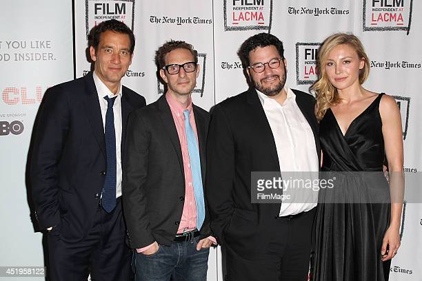 Clive Owen Jack Amiel Michael Begler and Juliet Rylance attend the New York Times/Film Independent Screening Of 'The Knick' at LACMA on July 9 2014...
