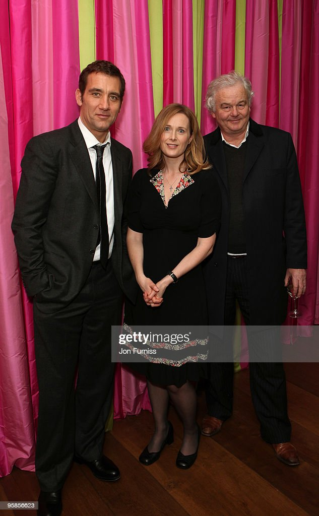 Clive Owen Natasha Little and Simon Carr attends VIP Screening of 'The Boys Are Back' at Soho Hotel on January 18 2010 in London England