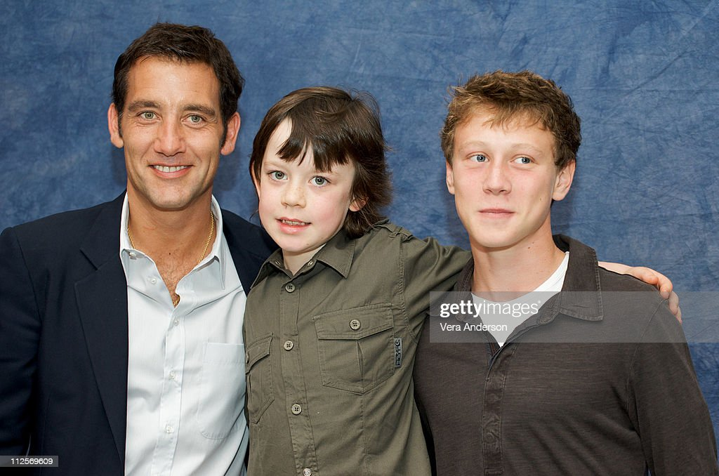 Clive Owen Nicholas McAnulty and George MacKay at 'The Boys Are Back' press conference at the Hazelton Hotel on September 15 2009 in Toronto Canada