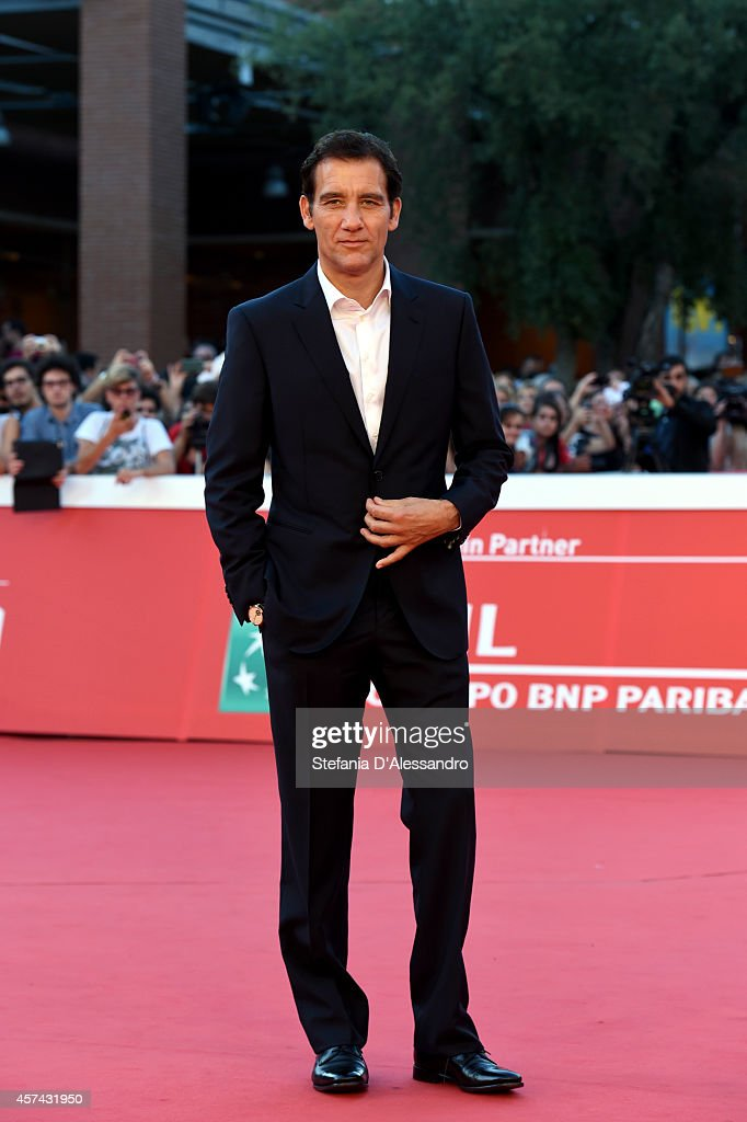 Clive Owen On The Red Carpet during the 9th Rome Film Festival on October 18 2014 in Rome Italy
