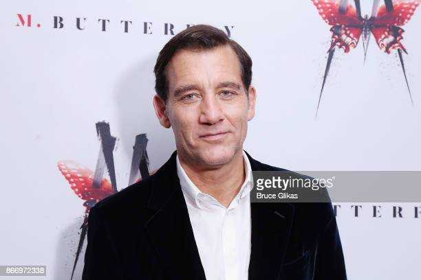 Clive Owen poses at the Opening Night After Party for 'M Butterfly' on Broadway at Red Eye Grille on October 26 2017 in New York City