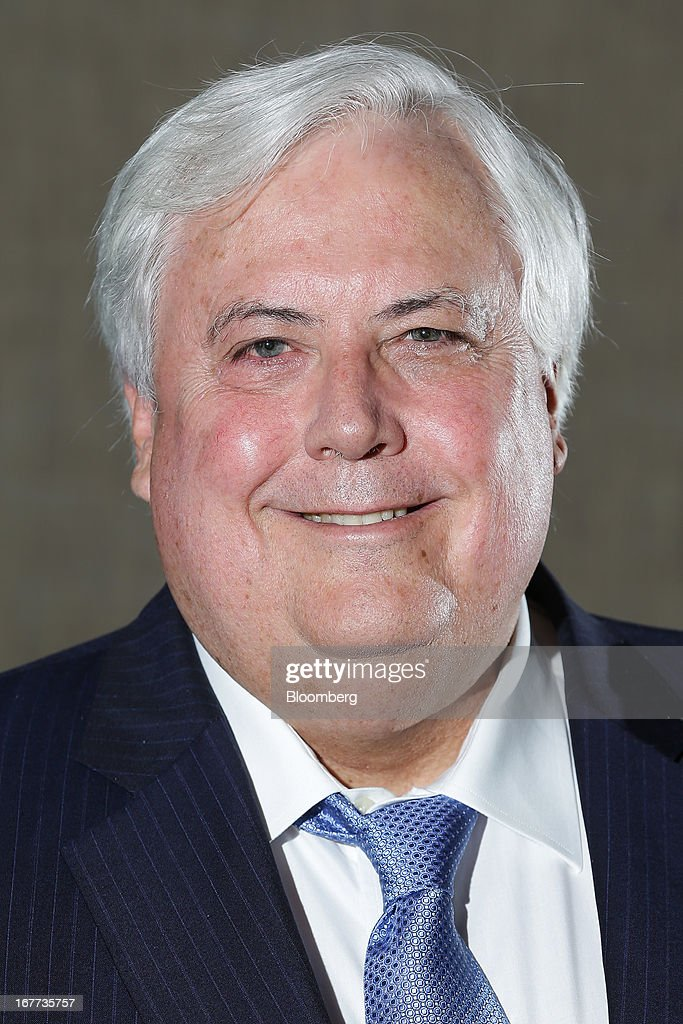Clive Palmer, chairman of Mineralogy Pty, poses for a photograph in Sydney, Australia, on Monday, April 29, 2013. Palmer said opposition leader Tony Abbott, who is leading in polls ahead of the Sept. 14 election, should be worried that conservative voters will be wooed to his new political party. Photographer: Brendon Thorne/Bloomberg via Getty Images