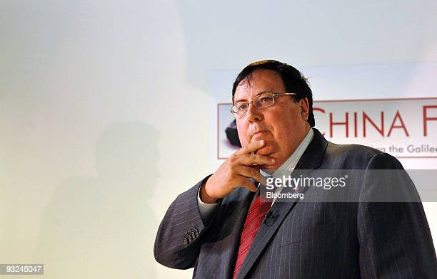 Clive Palmer chairman of Resourcehouse Ltd attends a joint news conference with Metallurgical Corp of China Ltd in Brisbane Australia on Friday Nov...