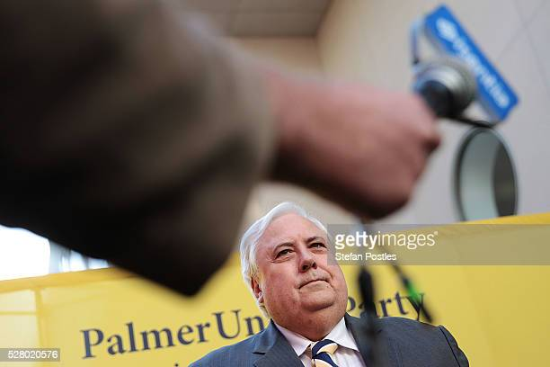 Clive Palmer during a press conference called to announce that he will not seek reelection in the House of Representatives at Parliament House on May...