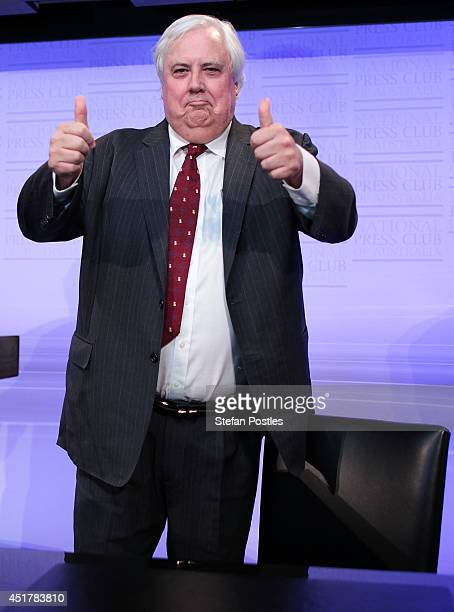 Clive Palmer prior to speaking at National Press Club on July 7 2014 in Canberra Australia Today is the first day of sitting for the new senate...