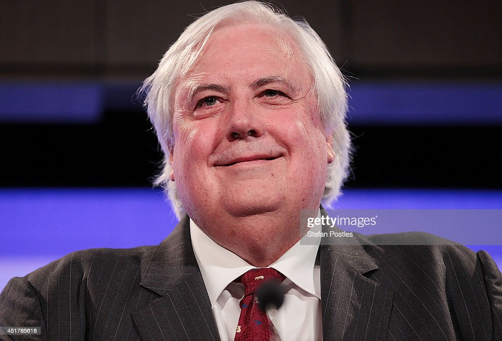 <a gi-track='captionPersonalityLinkClicked' href=/galleries/search?phrase=Clive+Palmer&family=editorial&specificpeople=5874044 ng-click='$event.stopPropagation()'>Clive Palmer</a> speaks at National Press Club on July 7, 2014 in Canberra, Australia. Today is the first day of sitting for the new senate. Twelve Senators were sworn in this morning.