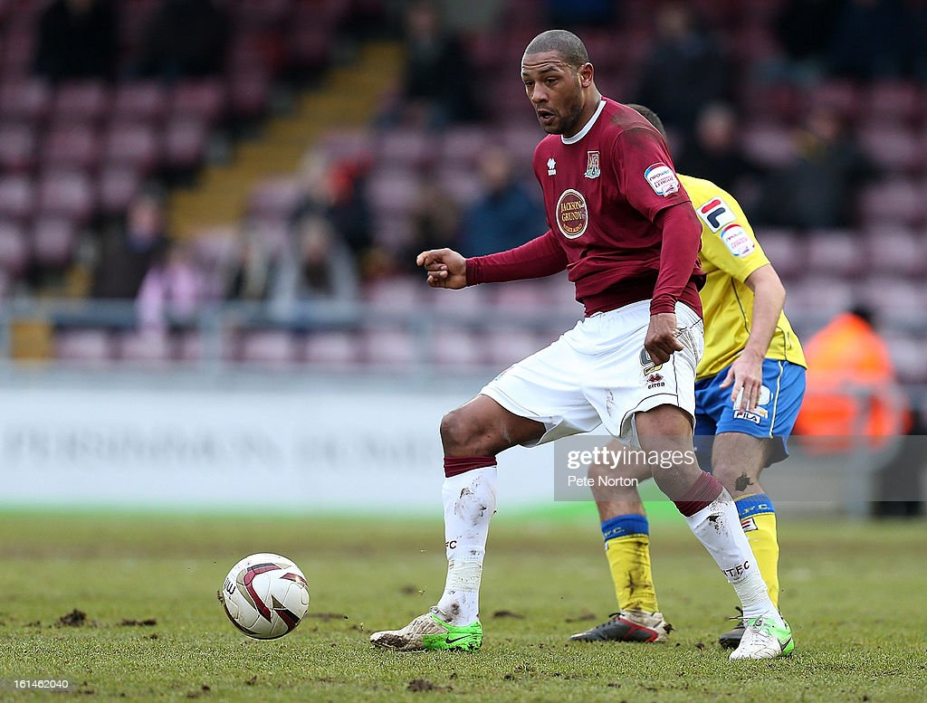 Clive Platt of Northampton Town in action during the npower League Two match between Northampton Town and Rochdale at Sixfields Stadium on February 9, 2013 in Northampton, England.