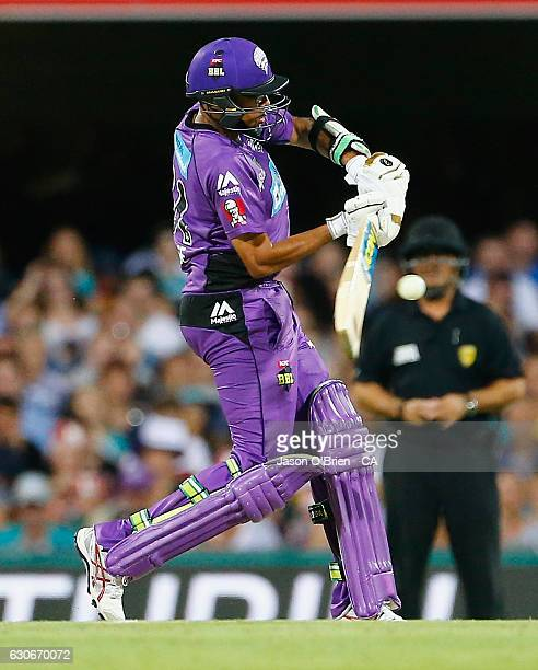 Clive Rose in action during the Big Bash League between the Brisbane Heat and Hobart Hurricanes at The Gabba on December 30 2016 in Brisbane Australia