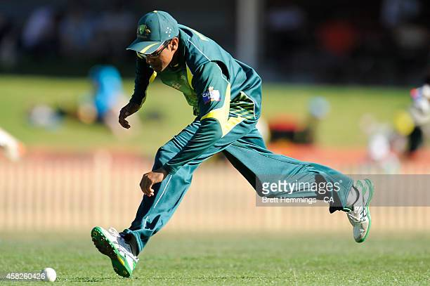 Clive Rose of Australia fields the ball during the Men's International Tour Twenty20 match between the Cricket Australia XI and South Africa at North...