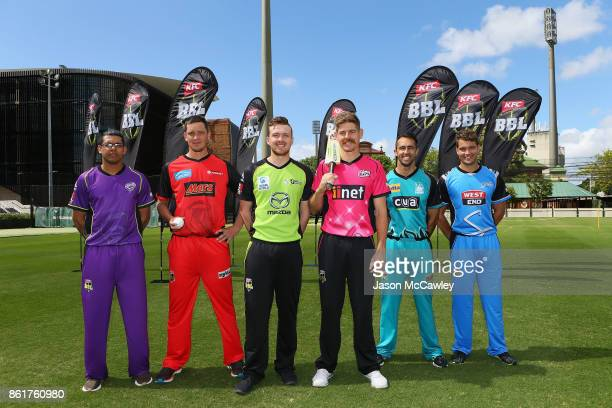 Clive Rose of the Hobart Hurricanes Chris Tremain of the Melbourne Renegades Ryan Gibson of the Sydney Thunder Daniel Hughes of the Sydney Sixers...