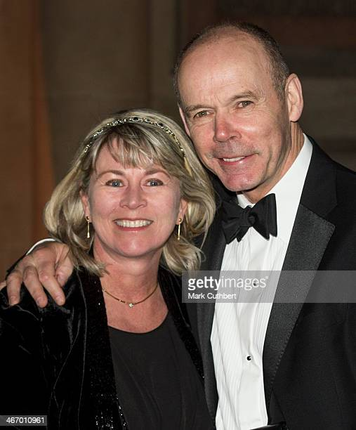 Clive Woodward and Jayne Williams attends the British Asian Trust reception at Victoria Albert Museum on February 5 2014 in London England