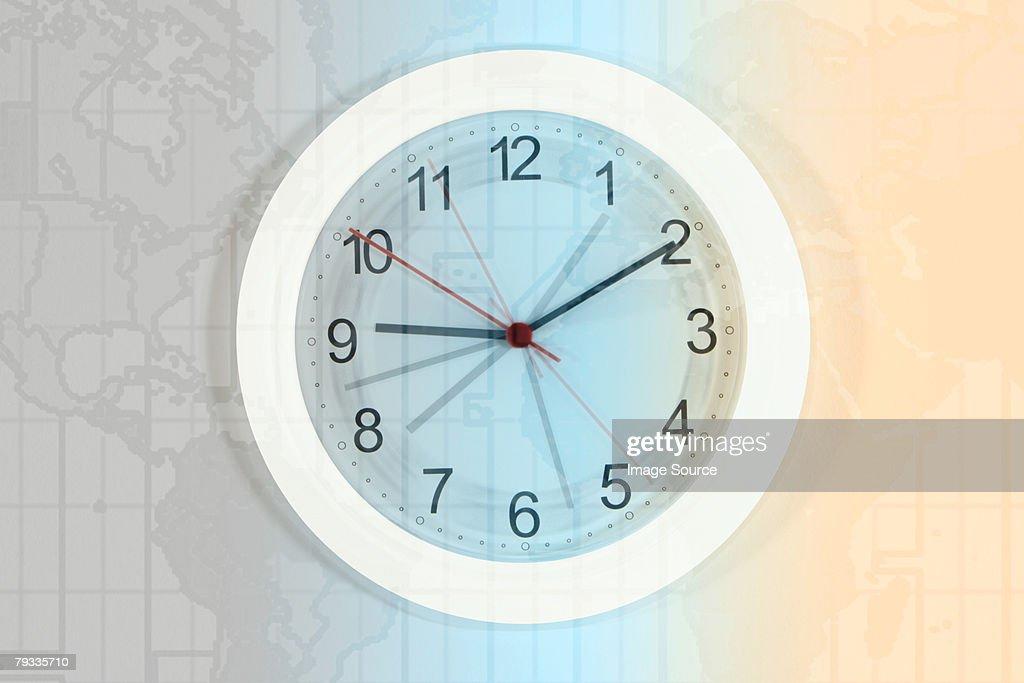 Clock and atlas : Stock Photo