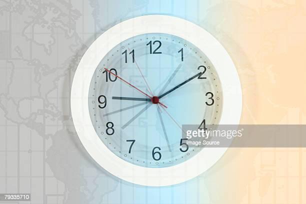 Clock and atlas