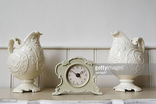 Clock and vase