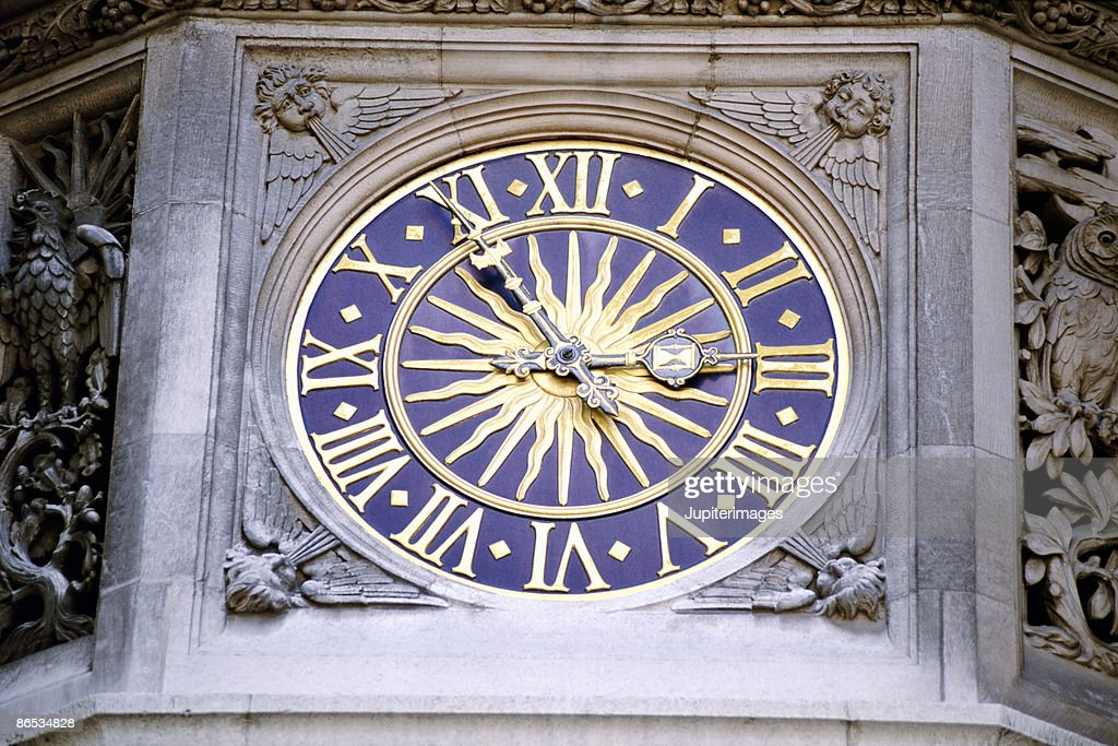 Clock at Liberty Department Store in London, England