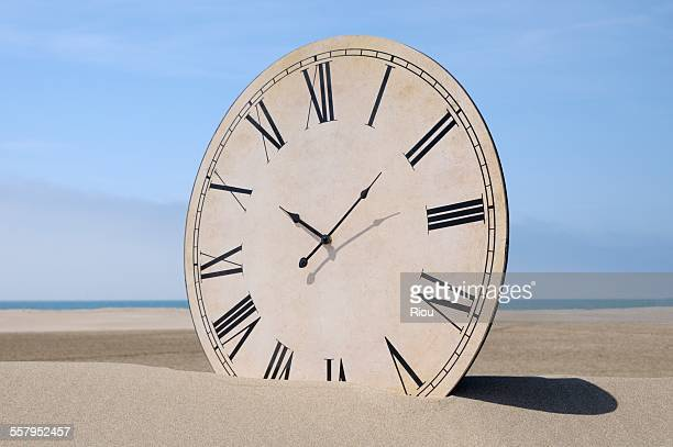 clock at the beach