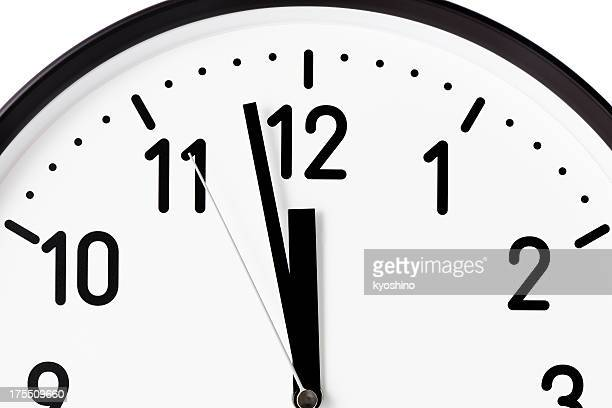Clock face of deadline on white background