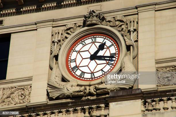 Clock face on Customs House, Circular Quay, Sydney, New South Wales, Australia