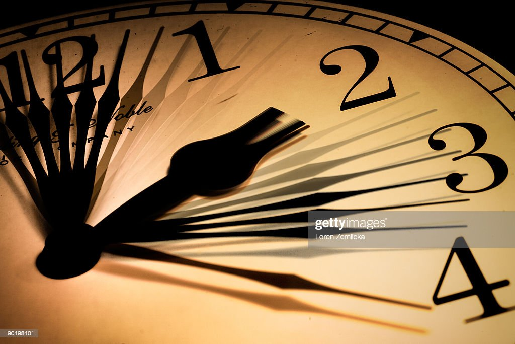 Clock Face Showing Moving Hands : Stock Photo