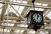 Clock in train station.